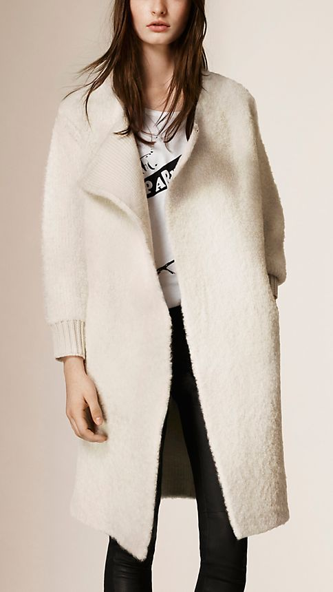 Burberry Wool Cashmere Knit Cardigan Coat 8