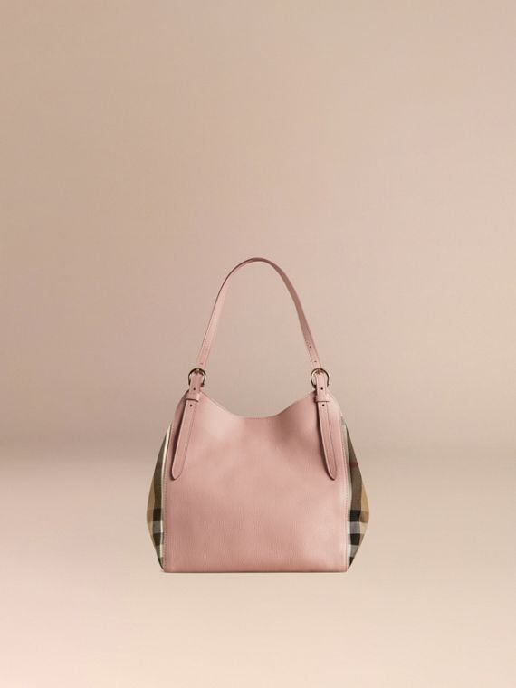 The Small Canter in Leather and House Check in Pale Orchid - Women | Burberry - cell image 3
