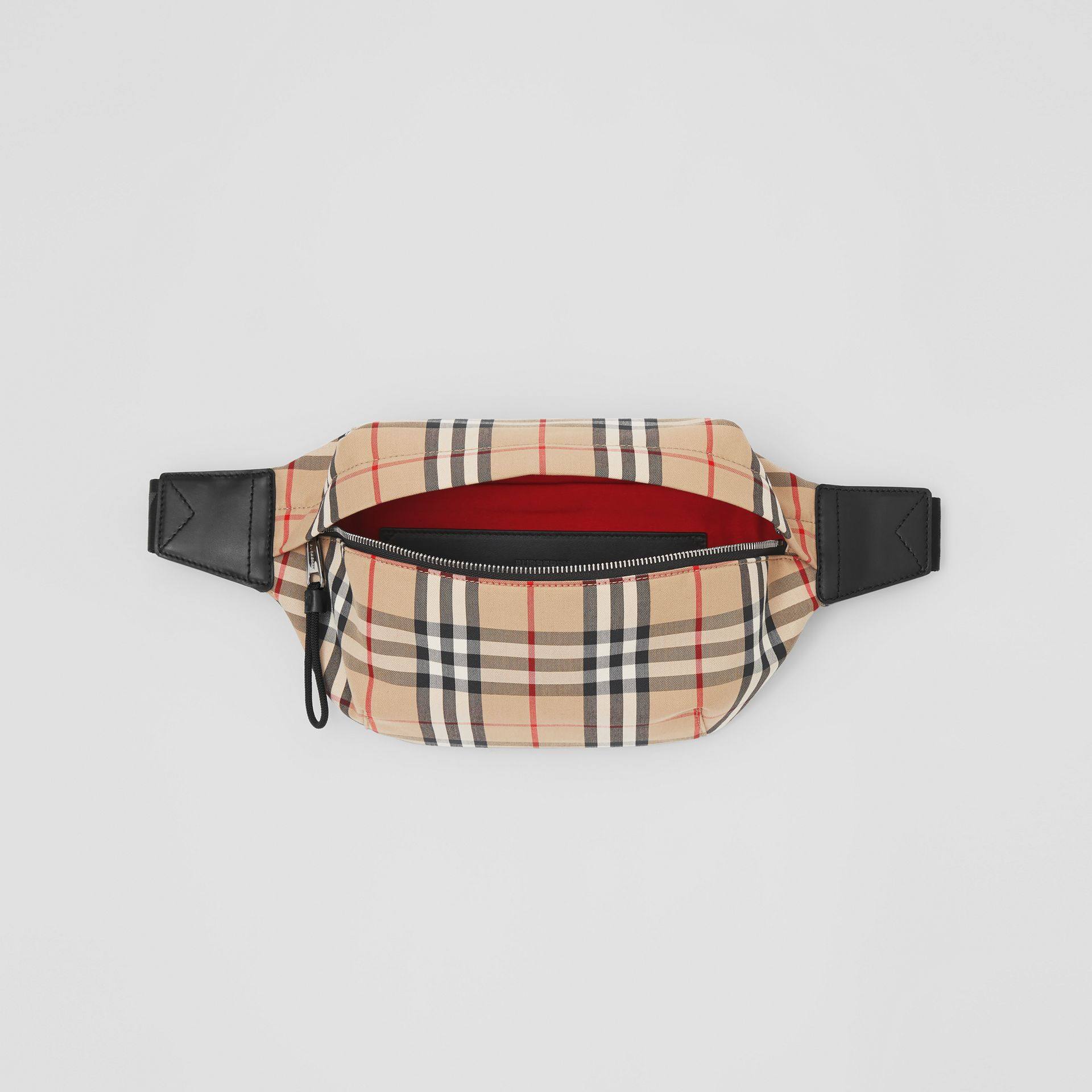 Medium Vintage Check Bonded Cotton Bum Bag in Archive Beige | Burberry - gallery image 5