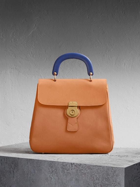 The Large DK88 Top Handle Bag Bright Toffee