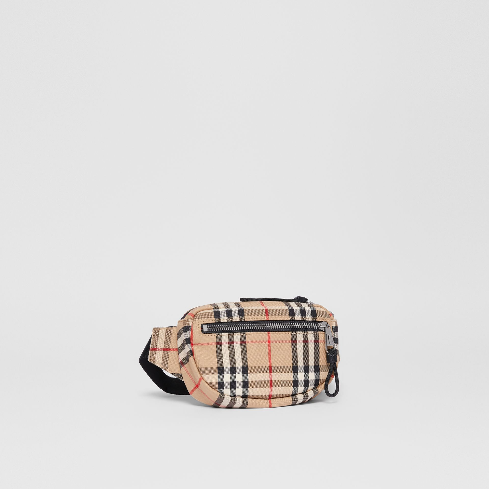 Small Vintage Check Cannon Bum Bag in Archive Beige | Burberry - gallery image 8