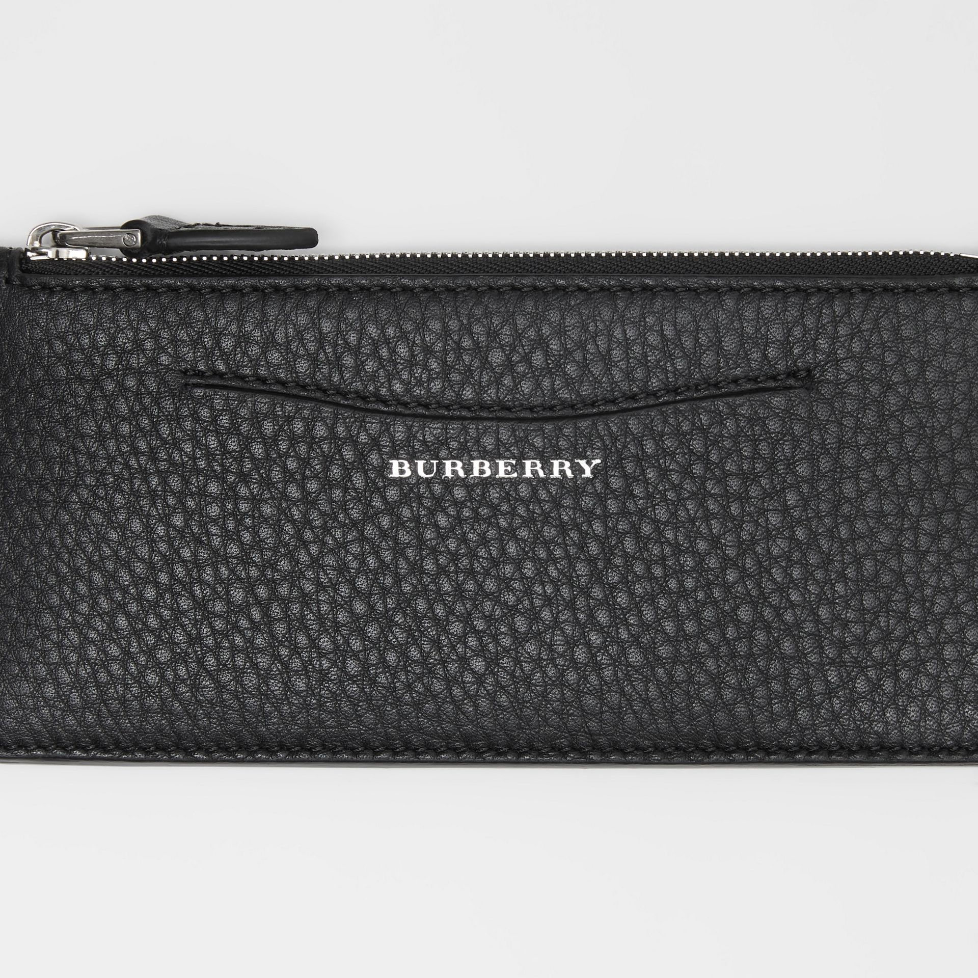 Two-tone Leather Ziparound Wallet and Coin Case in Black - Women | Burberry Hong Kong - gallery image 1