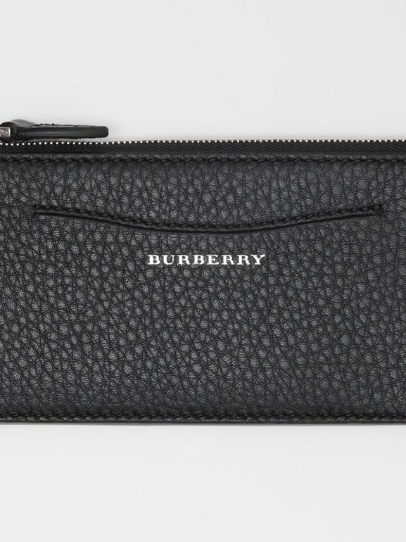 Two-tone Leather Ziparound Wallet and Coin Case in Black - Women | Burberry - cell image 1