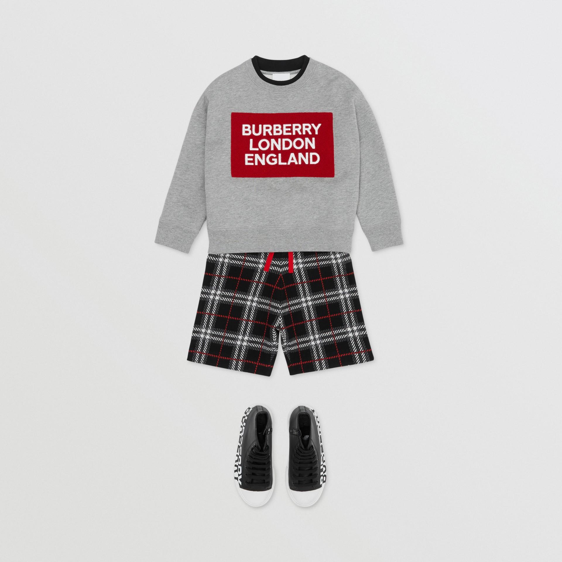 Baumwollsweatshirt mit Logo (Grau Meliert) | Burberry - Galerie-Bild 3