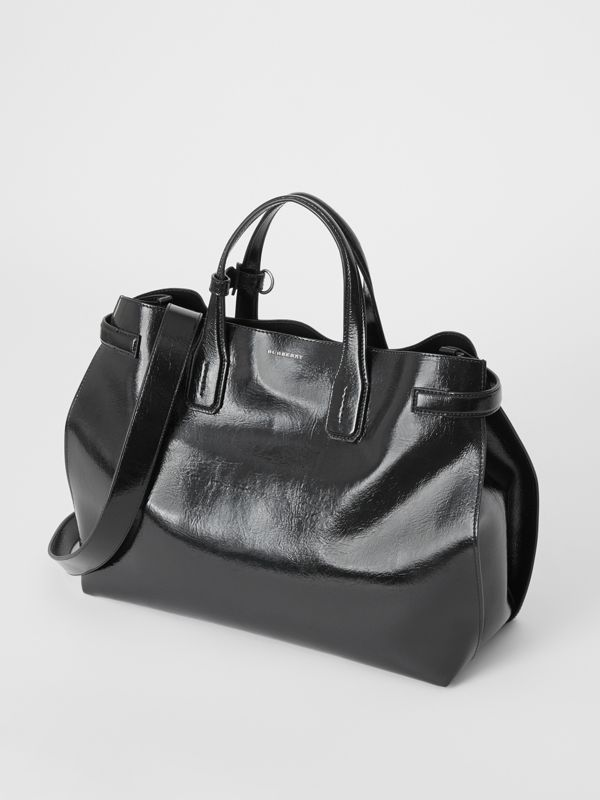 Borsa The Banner media in morbida pelle (Nero) - Donna | Burberry - cell image 3
