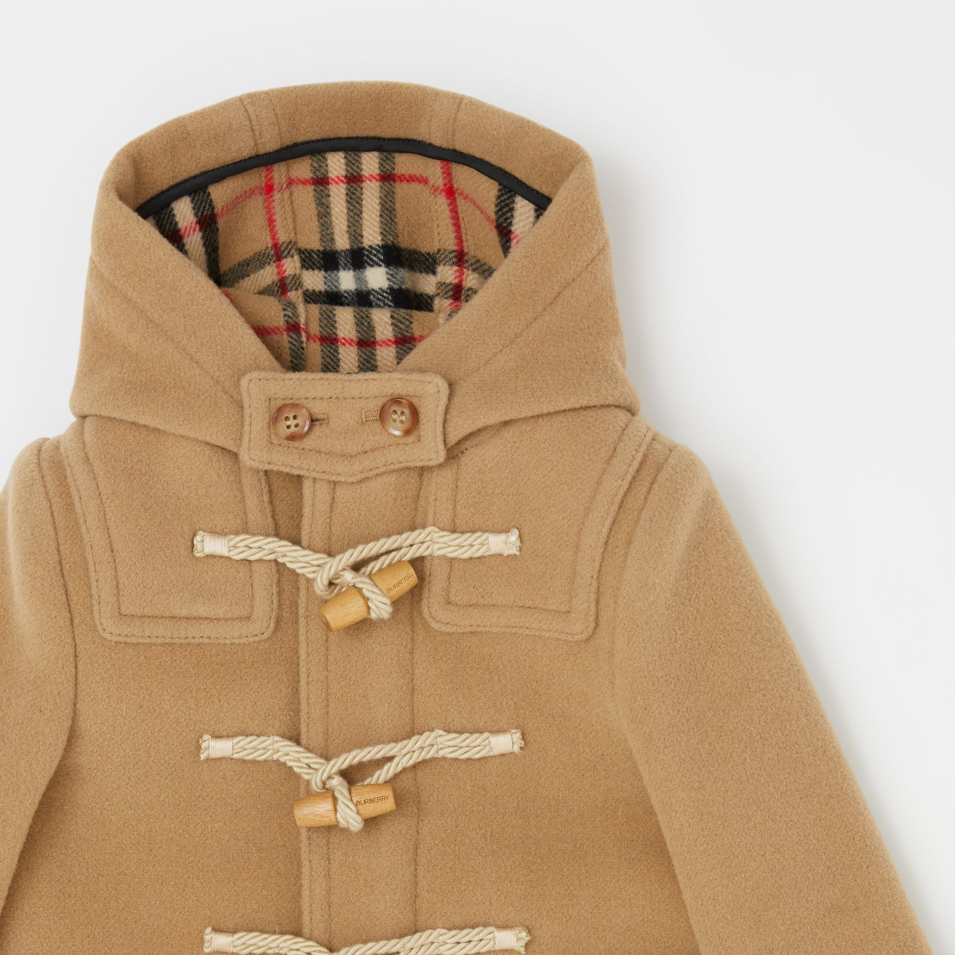 Boiled Wool Duffle Coat in Archive Beige - Children | Burberry - gallery image 5