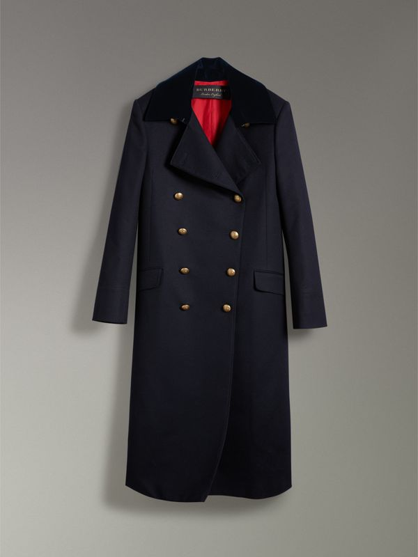 Doeskin Wool Military Coat in Dark Navy - Women | Burberry United States - cell image 3