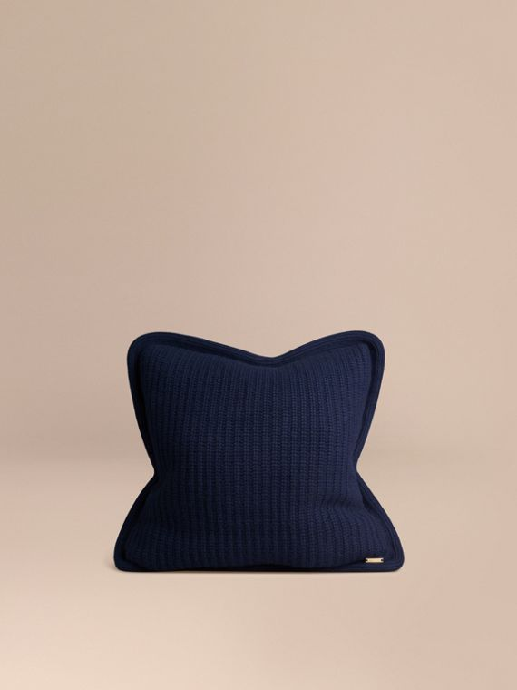 Knitted Cashmere Cushion Cover Navy