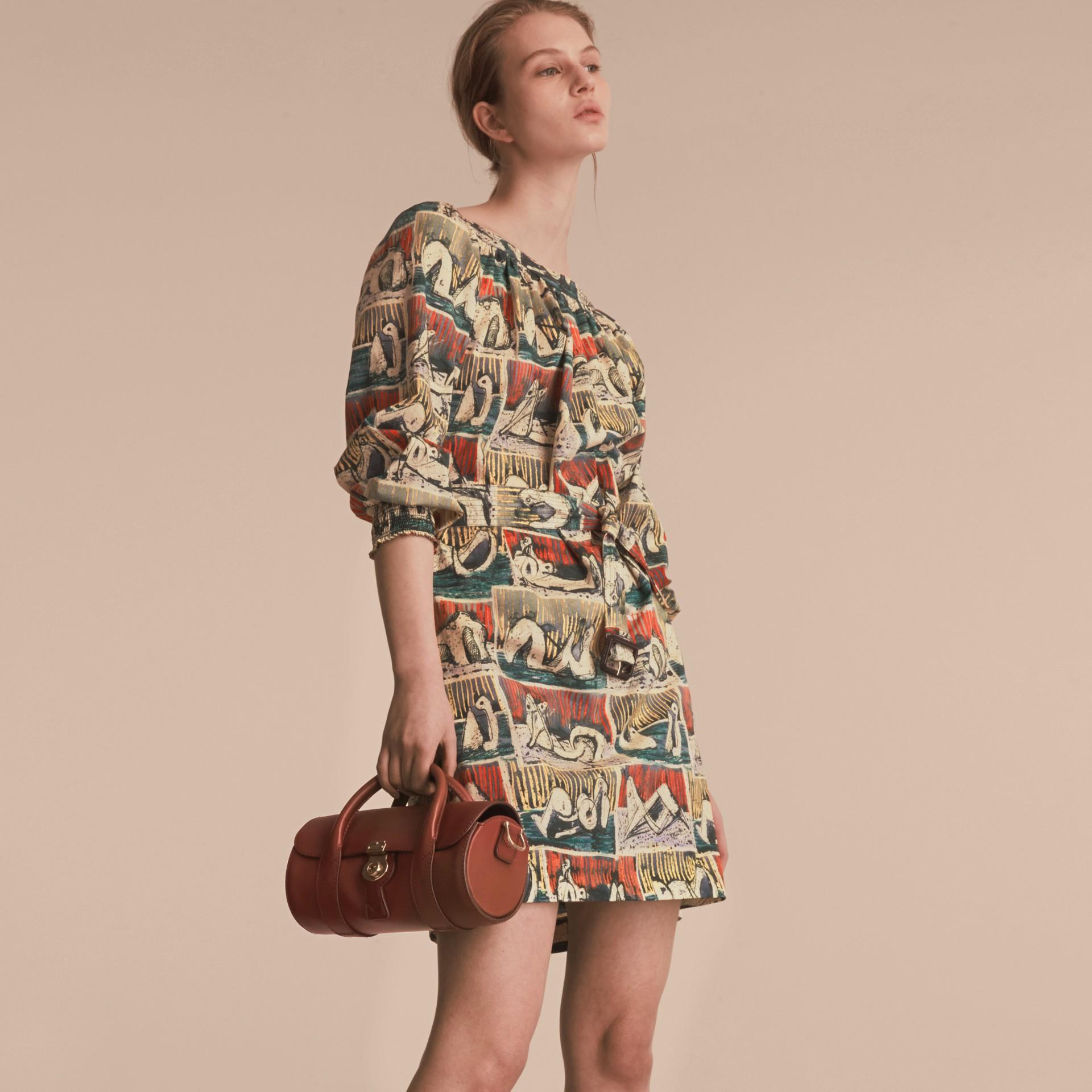 Reclining Figures Print Cotton Tunic Dress - gallery image 5