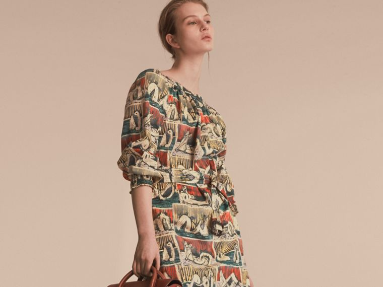 Reclining Figures Print Cotton Tunic Dress - cell image 4