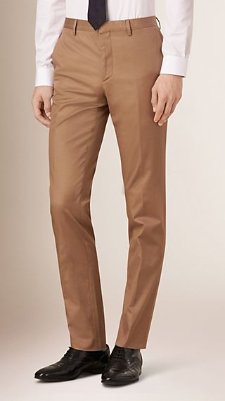Slim Fit Stretch-cotton Travel Tailoring Trousers