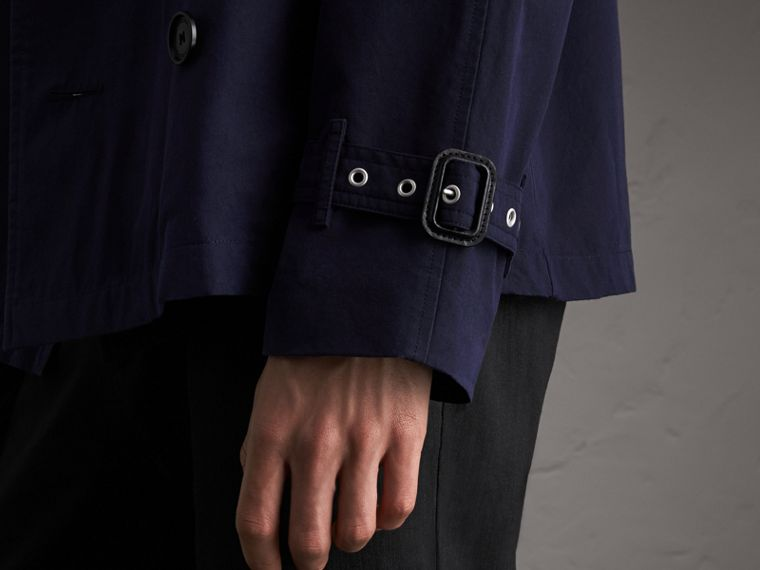 Unisex Tropical Gabardine Trench Jacket in Blueberry - Men | Burberry - cell image 4