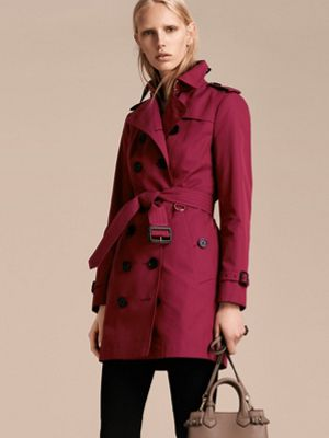 DAMSON PINK Cotton Gabardine Trench Coat 产品图片61