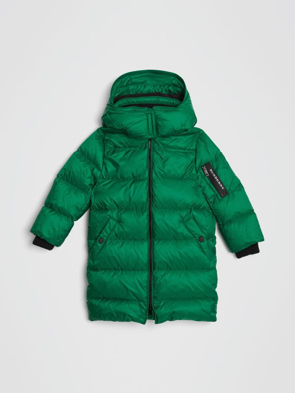 Detachable Hood Down-filled Puffer Coat in Dark Pigment Green | Burberry - cell image 2
