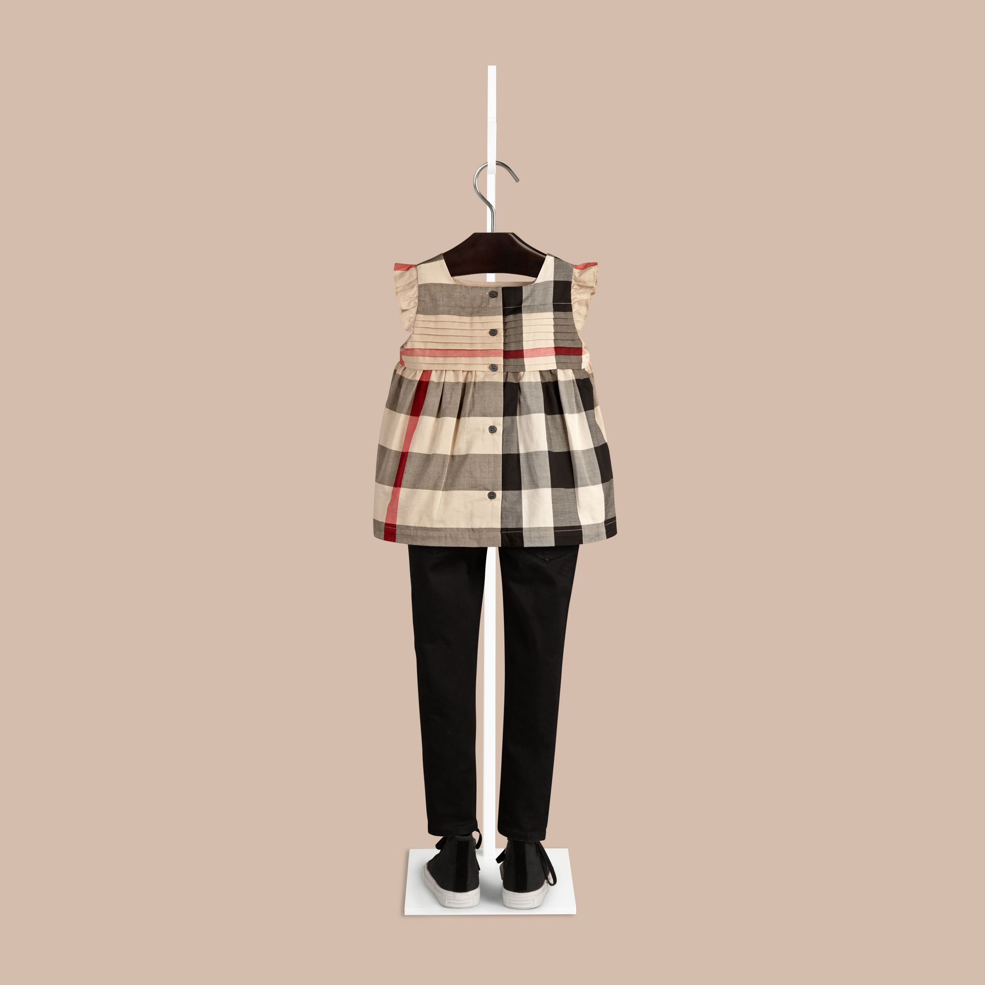New classic check Check Pleat Detail Cotton Blouse New Classic - gallery image 2