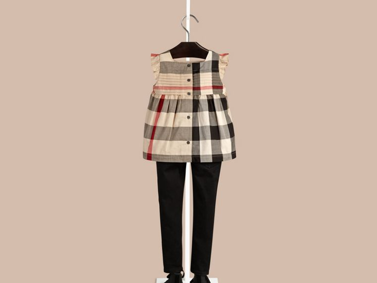 New classic check Check Pleat Detail Cotton Blouse New Classic - cell image 1