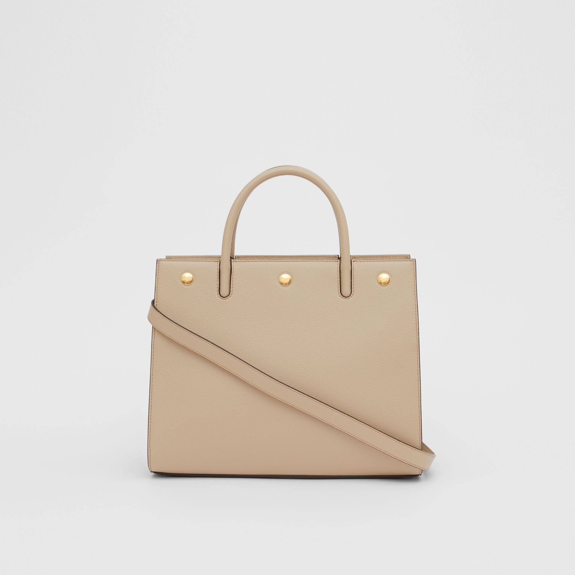 Small Leather Two-handle Title Bag in Light Beige - Women | Burberry United Kingdom - gallery image 5
