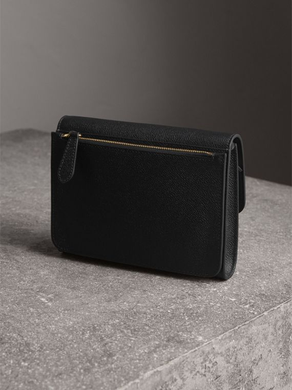 Grainy Leather Crossbody Bag in Black - Women | Burberry United Kingdom - cell image 2