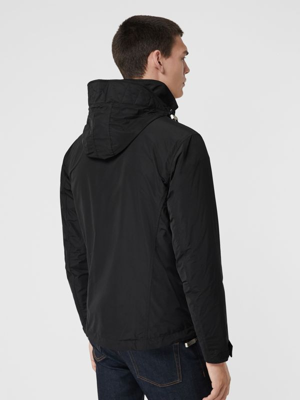 Packaway Hood Showerproof Jacket in Black - Men | Burberry Singapore - cell image 2