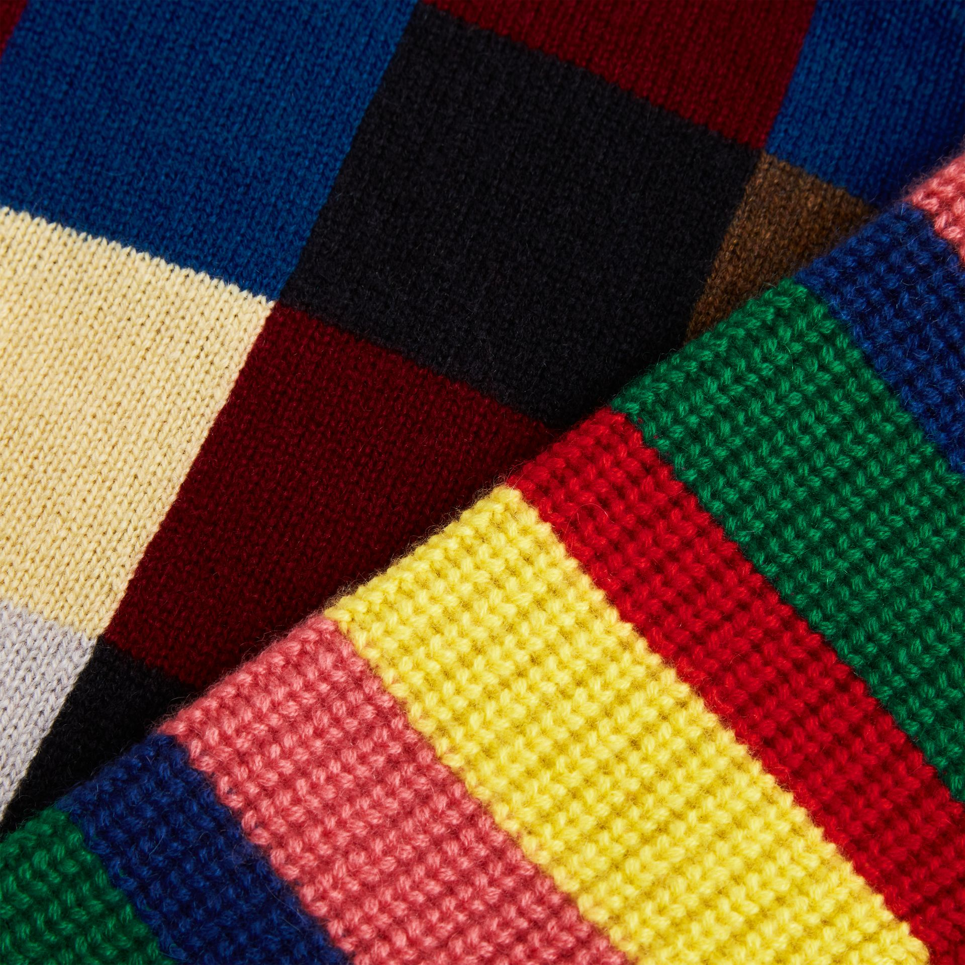 Patchwork Cashmere Roll-neck Sweater in Multicolour | Burberry Singapore - gallery image 4