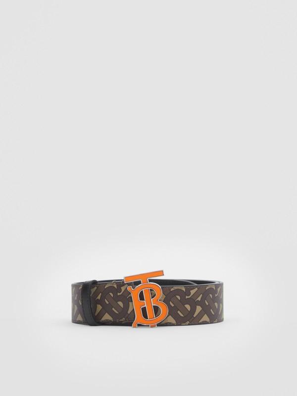 Monogram E-canvas Belt in Bridle Brown - Men | Burberry United Kingdom - cell image 3