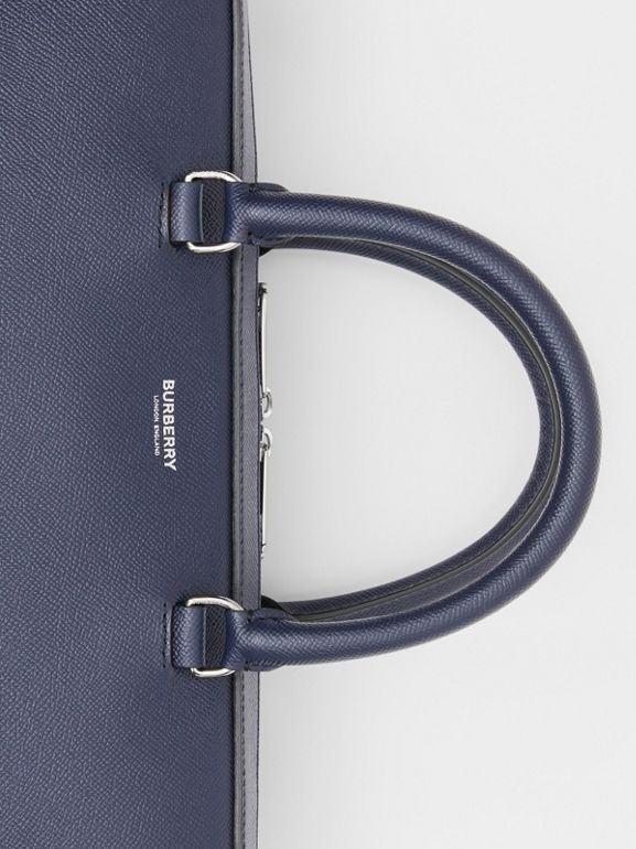 Grainy Leather Briefcase in Regency Blue - Men | Burberry Singapore - cell image 1
