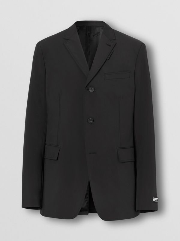 Slim Fit Technical Nylon Tailored Jacket in Black - Men | Burberry Australia - cell image 3