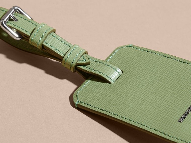 London Leather Luggage Tag Antique Green - cell image 1