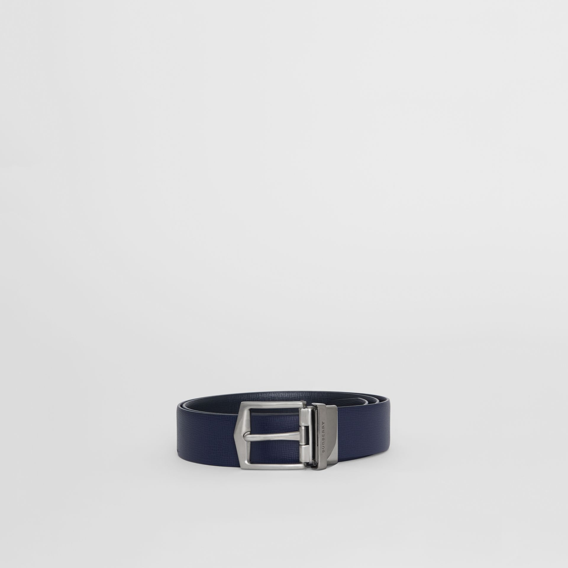 Reversible London Leather Belt in Dark Navy/black - Men | Burberry Canada - gallery image 3