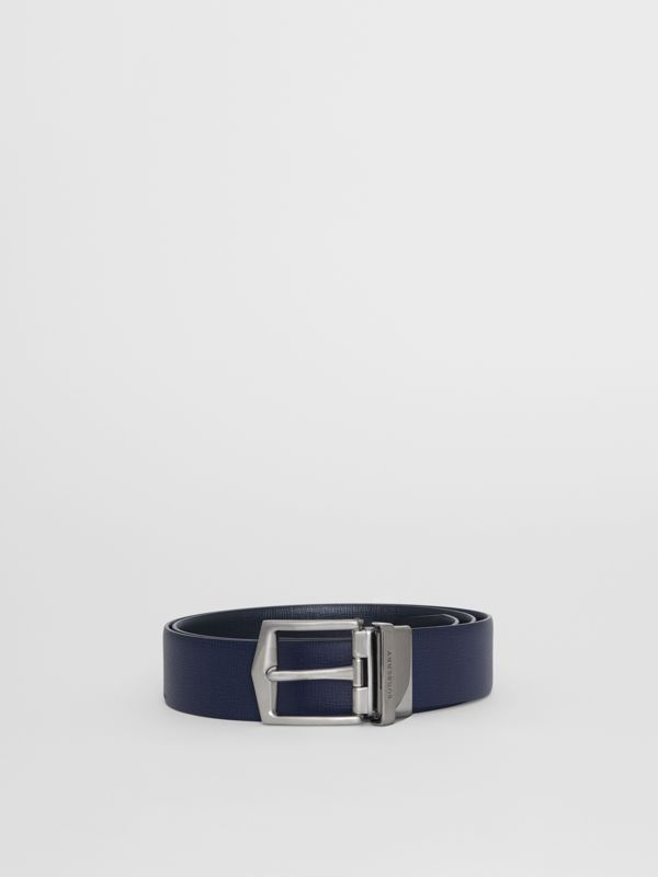Cintura double face in pelle London (Navy Scuro/nero) - Uomo | Burberry - cell image 3
