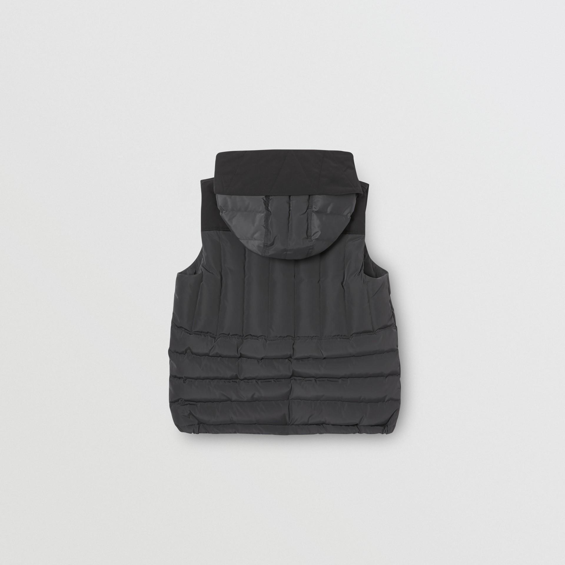 Дутый жилет с капюшоном (Темный Древесный Уголь) | Burberry - изображение 2