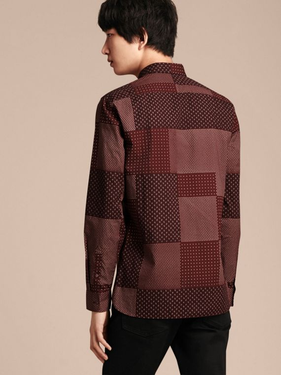 Dark elderberry Patchwork Print Cotton Shirt Dark Elderberry - cell image 2