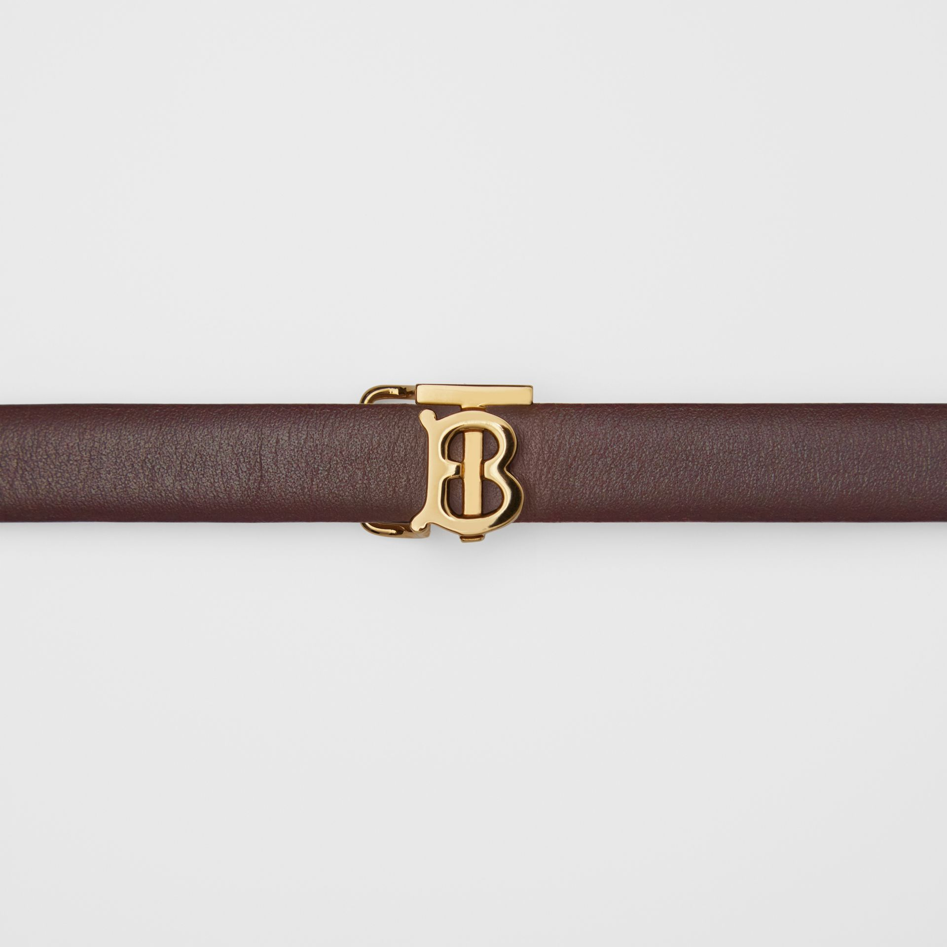 Reversible Monogram Motif Leather Wrap Belt in Oxblood/rose Beige - Women | Burberry - gallery image 1