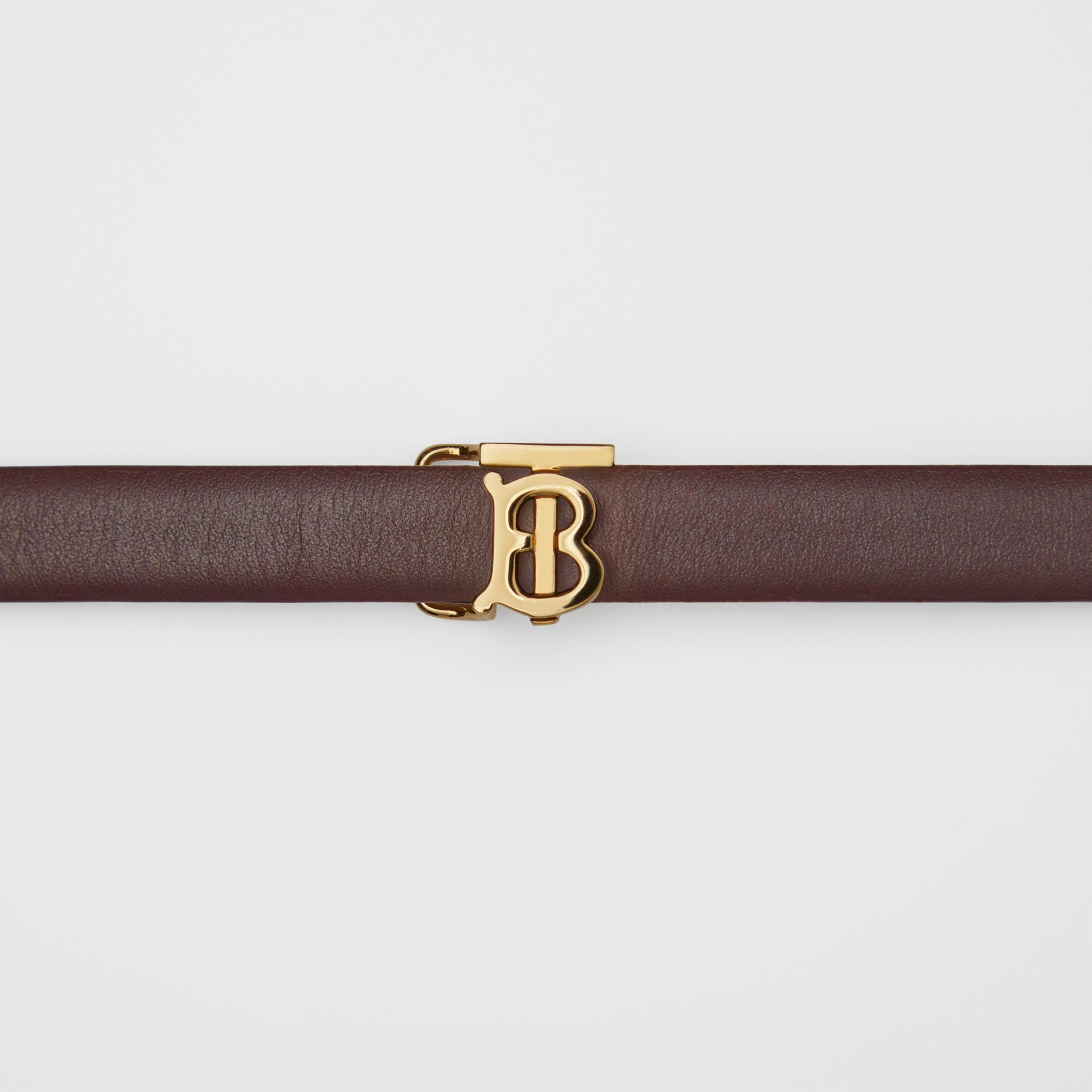 Reversible Monogram Motif Leather Wrap Belt in Oxblood/rose Beige - Women | Burberry - 2