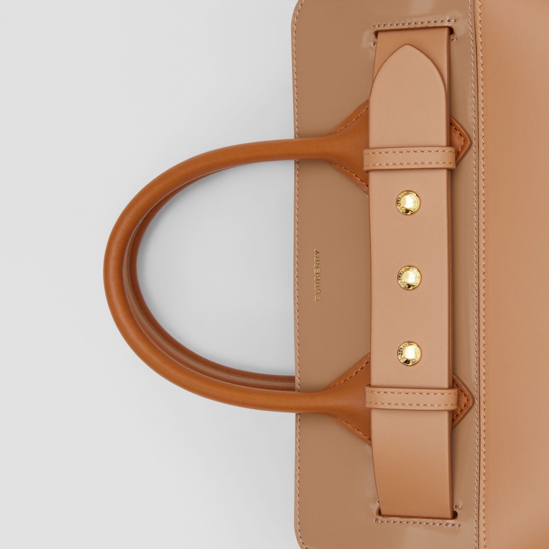 The Small Panelled Leather Triple Stud Belt Bag in Soft Fawn/biscuit - Women | Burberry - gallery image 1