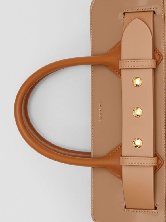 The Small Panelled Leather Triple Stud Belt Bag in Soft Fawn/biscuit - Women | Burberry - cell image 1