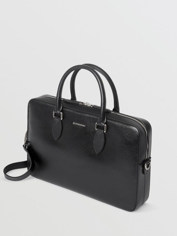 London Leather Briefcase in Black - Men | Burberry - cell image 3