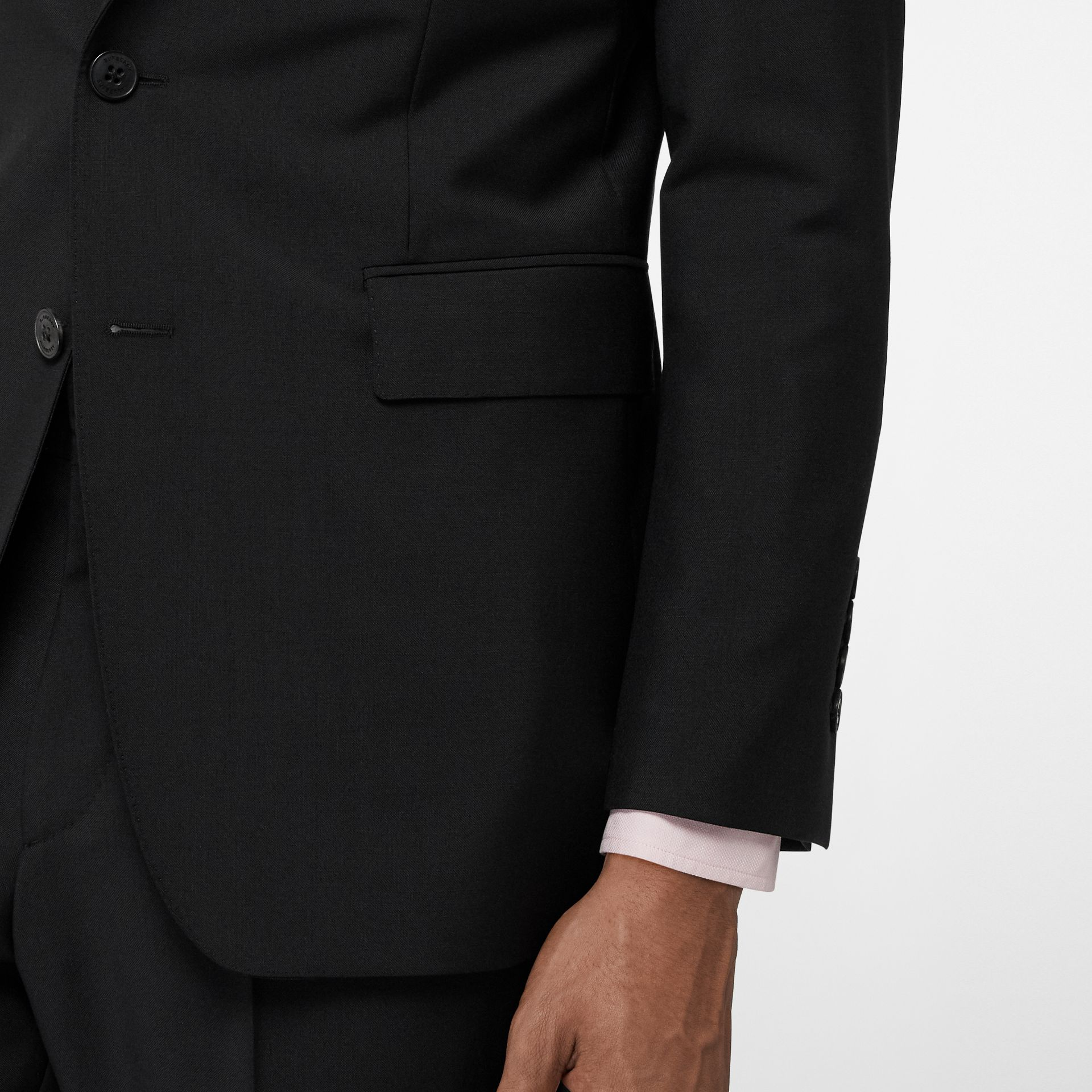 Slim Fit Wool Mohair Suit in Black - Men | Burberry Canada - gallery image 5