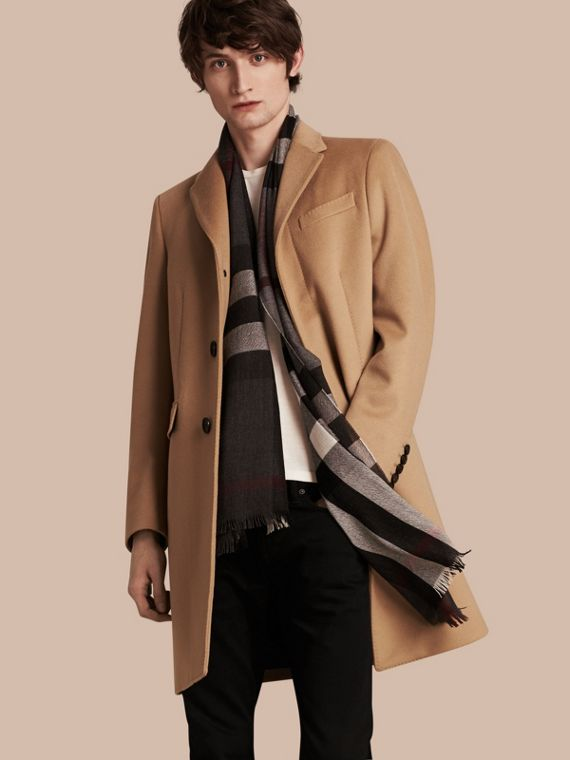 Wool Cashmere Tailored Coat in Camel - Men | Burberry