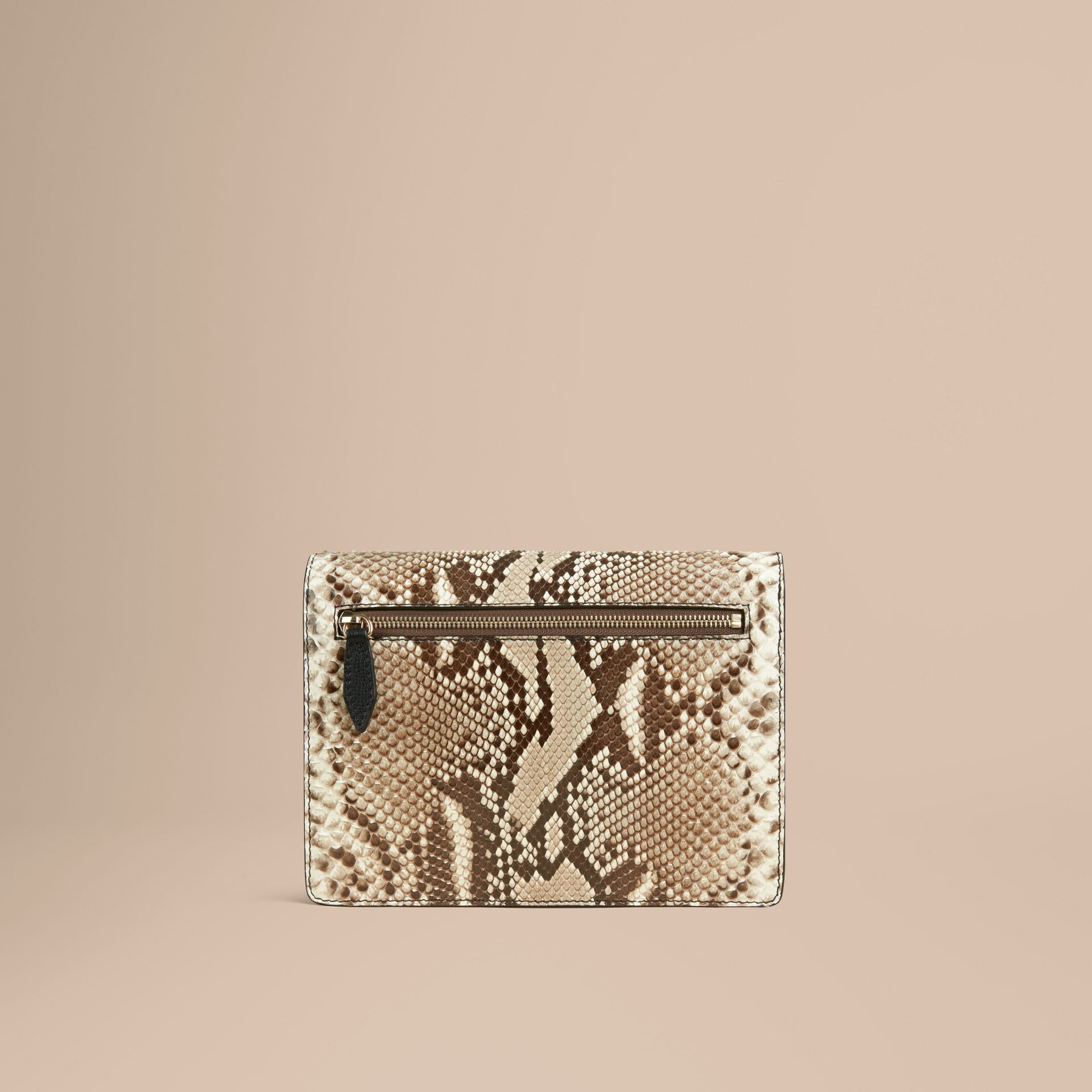 Small Python Crossbody Bag in Natural - Women | Burberry - gallery image 4