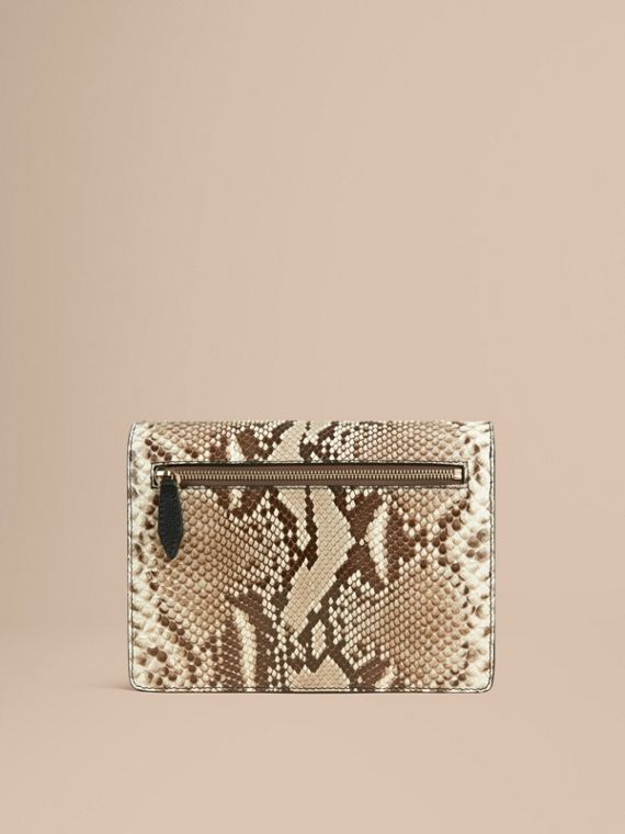Small Python Crossbody Bag in Natural - Women | Burberry United Kingdom - cell image 3