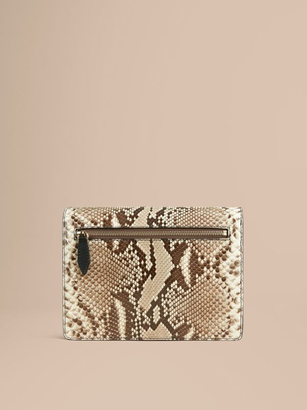 Small Python Crossbody Bag in Natural - Women | Burberry - cell image 3
