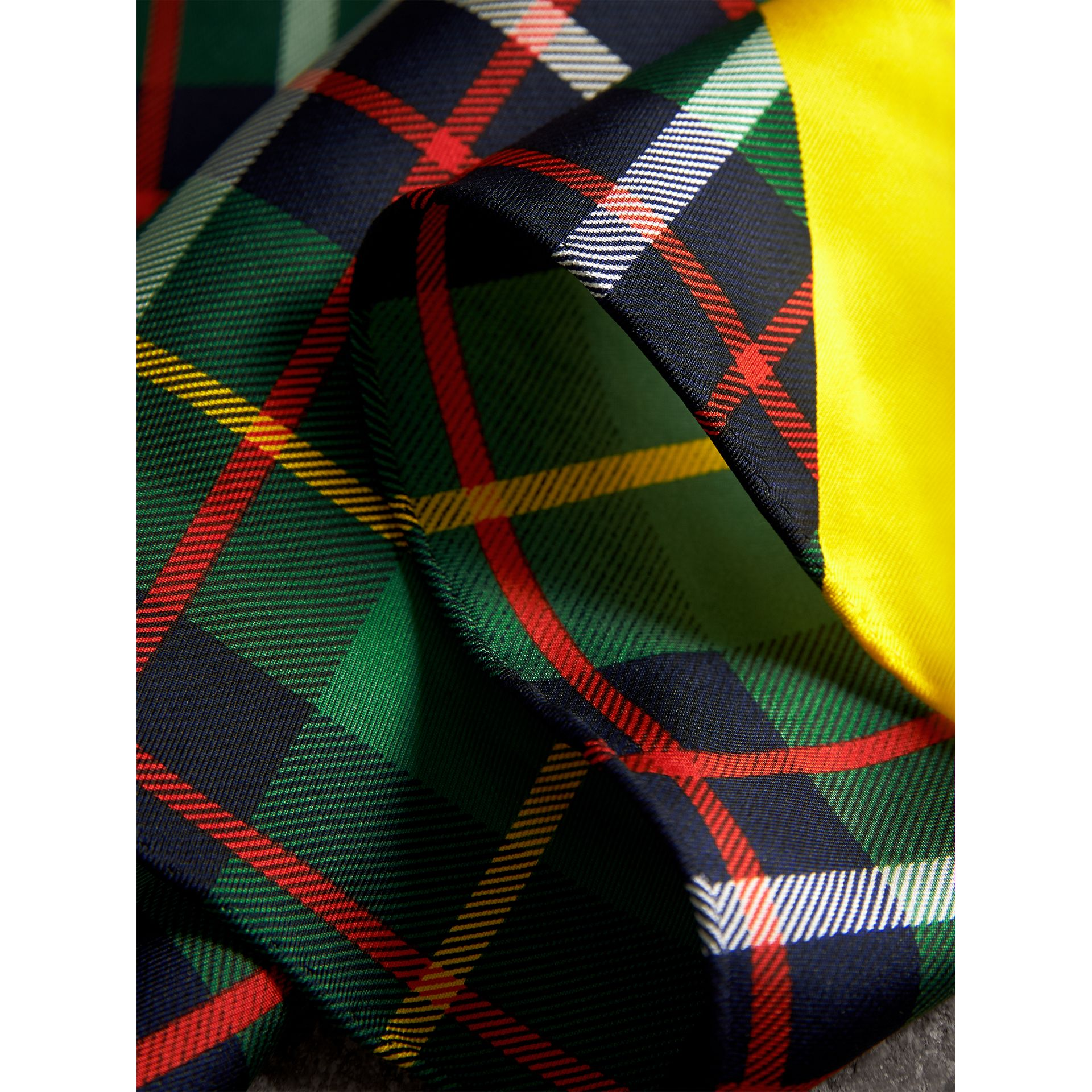 The Burberry Bandana in Check Silk in Racing Green | Burberry United Kingdom - gallery image 1