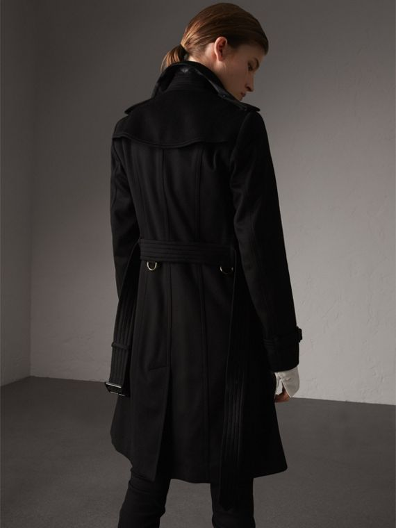 Sandringham Fit Cashmere Trench Coat in Black - Women | Burberry - cell image 2