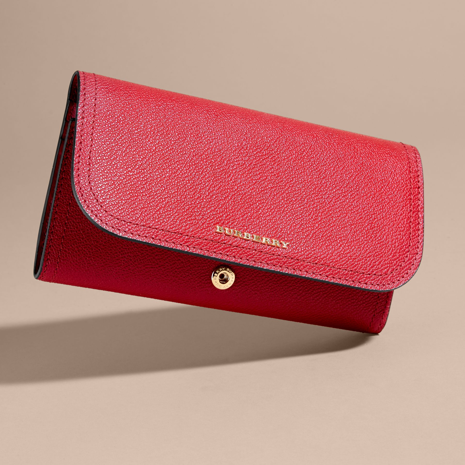 Leather Continental Wallet with Removable Coin Case in Parade Red - Women | Burberry - gallery image 6