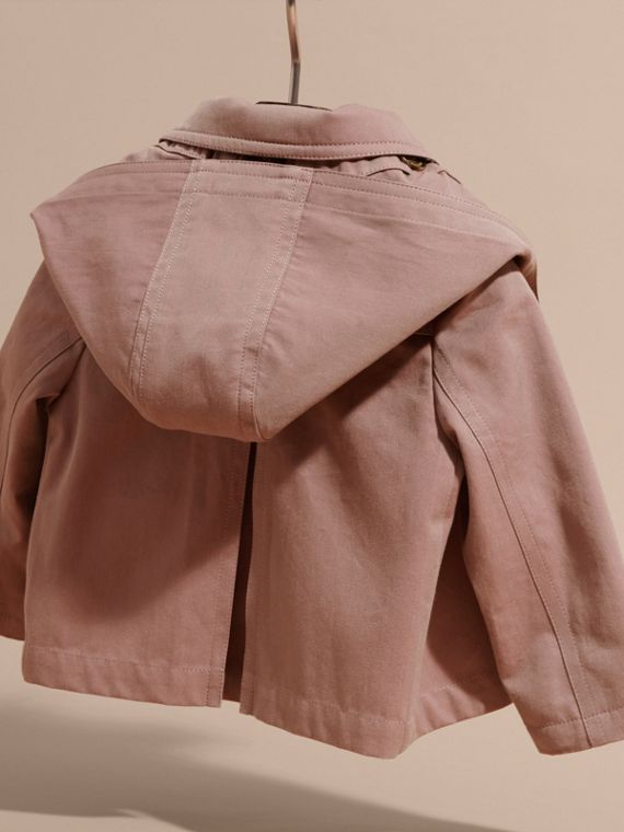 Cotton A-line Jacket with Detachable Hood - cell image 3