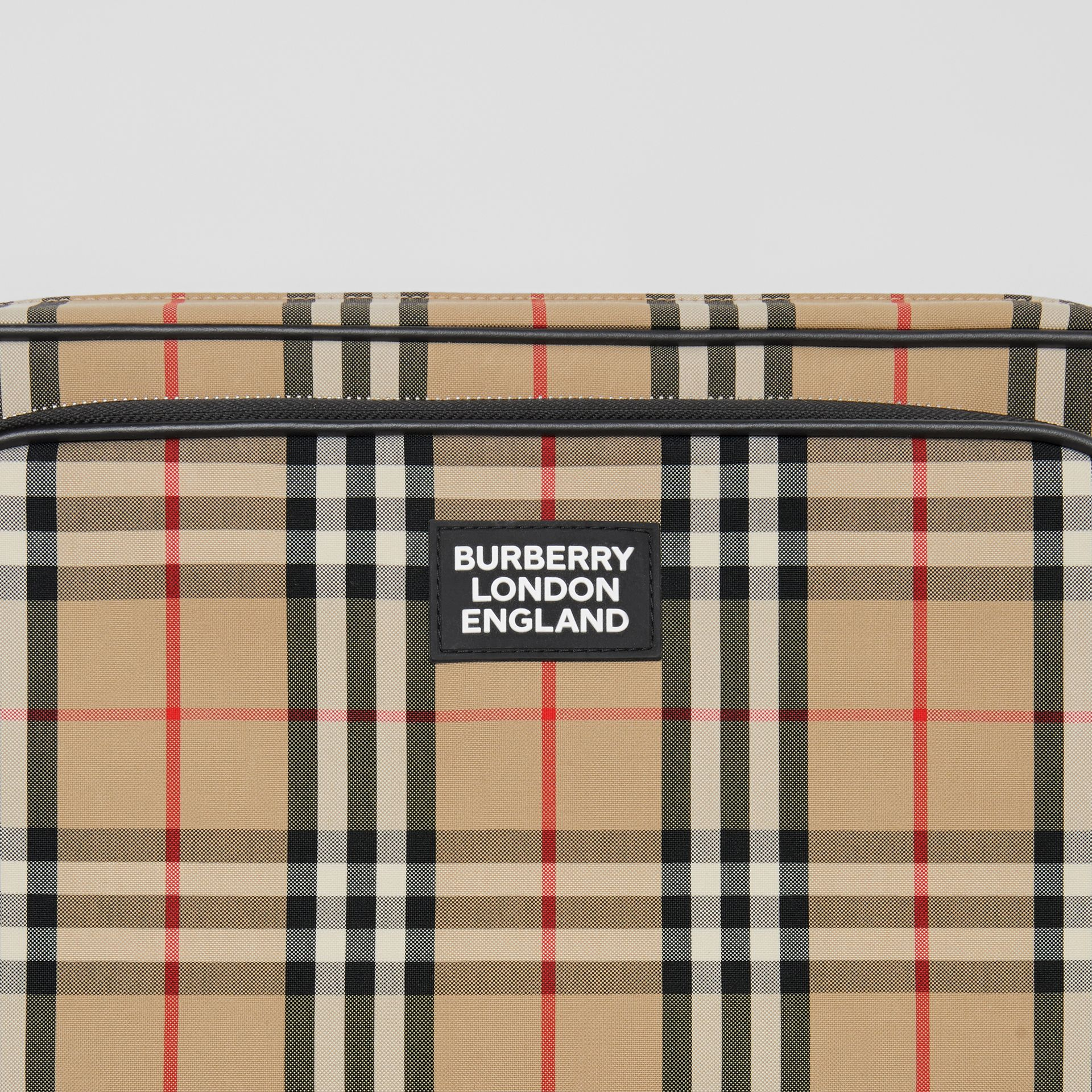Vintage Check Cotton Messenger Bag in Archive Beige - Men | Burberry Hong Kong S.A.R - gallery image 1