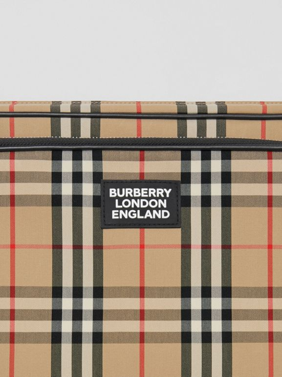 Vintage Check Cotton Messenger Bag in Archive Beige - Men | Burberry Hong Kong S.A.R - cell image 1