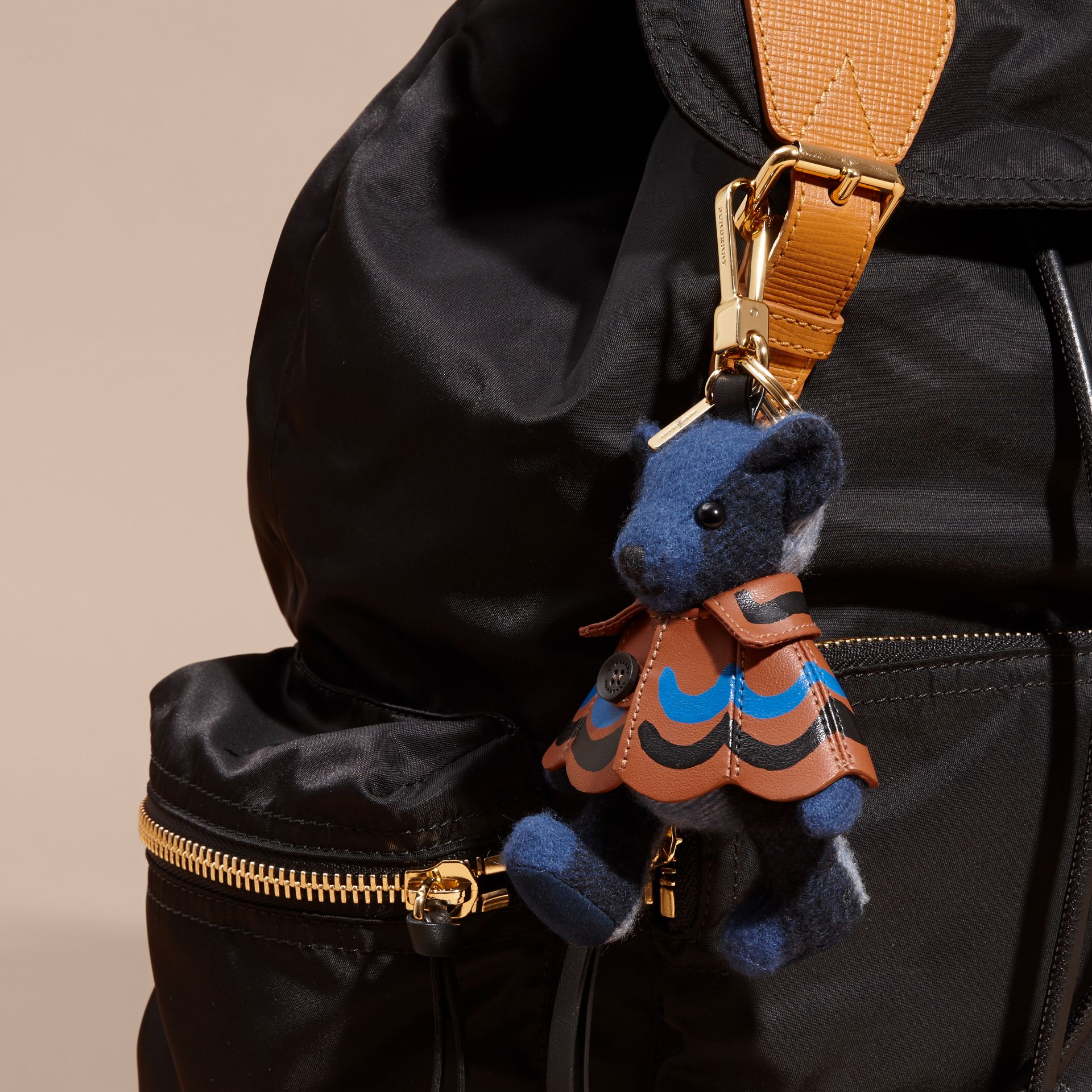 Thomas Bear Charm in Trompe L'oeil Print Cape Cadet Blue - gallery image 3