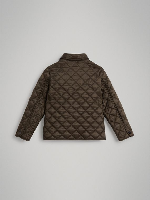 Lightweight Diamond Quilted Jacket in Oregano - Boy | Burberry - cell image 3